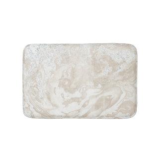 Marble Stone Luxury Creamy Beige Ivory Gray Bath Mat