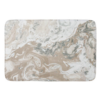 Marble Stone Luxury White Beige Ivory Gray Bath Mat