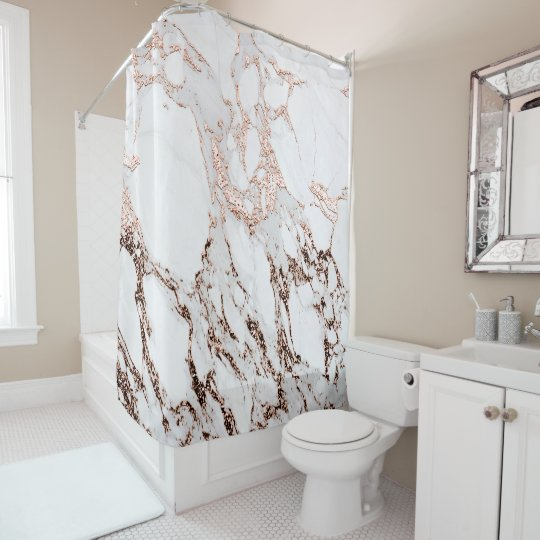 Marble Stone Metallic Copper White Carrara Gray Shower