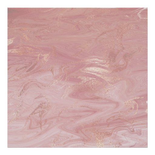 Marble Stone Molten Abstract Pink Rose Gold Glam