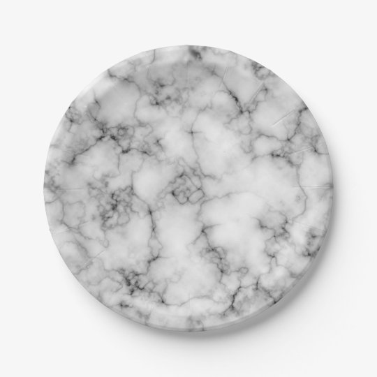 Marble Stone Paper Plate