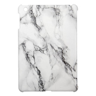 Marble Stone With Black And Gray Textured Case For The iPad Mini