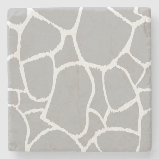 Marble stone with Grey giraffe structure Stone Beverage