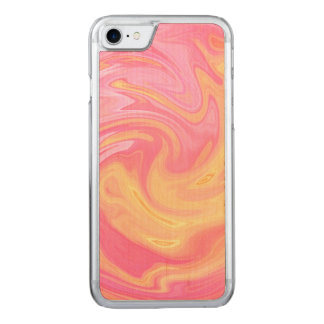 Marble style - peach carved iPhone 8/7 case