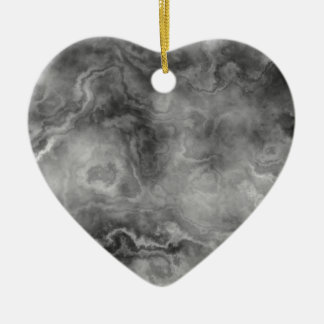 Marble surface ceramic heart decoration