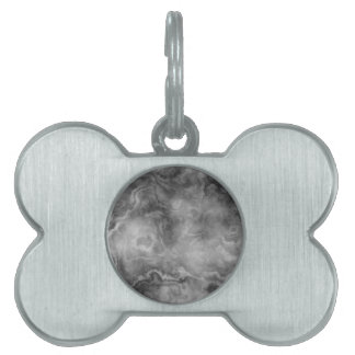 Marble surface pet name tag