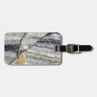 Marble surface with fractures. luggage tag