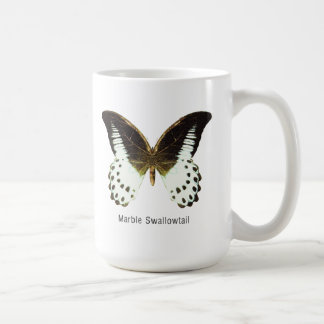Marble Swallowtail with Name Coffee Mugs