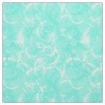 Marble swirl print - aqua / robin's egg blue fabric