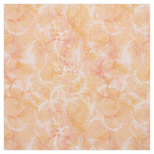 Marble swirl print - soft orange fabric