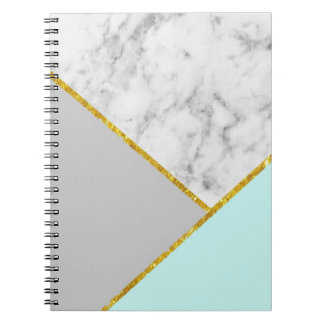 Marble Teal & Gold Notebook