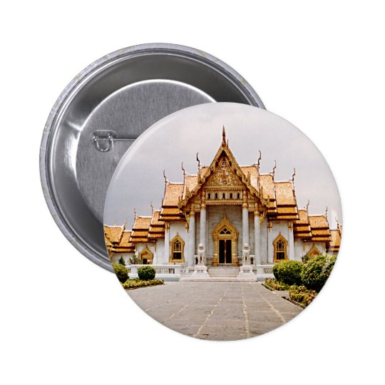 Marble Temple of Gold over Khmer Lion Button Tag