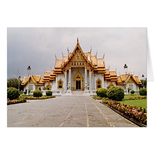 Marble Temple of Gold over Khmer Lion Card