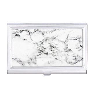 Marble texture business card holder