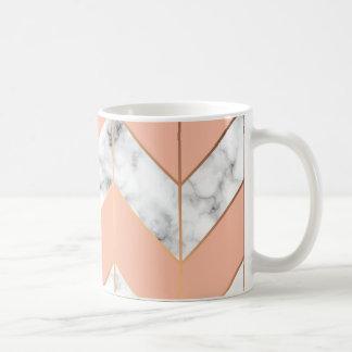 Marble texture elegant coffee cup
