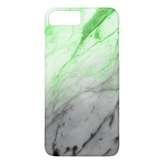Marble Texture (Grey Glowing Green) iPhone 7 Plus