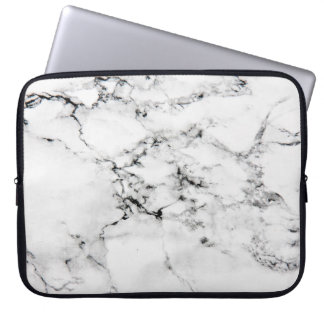 Marble texture laptop computer sleeve