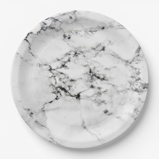 Marble texture paper plate