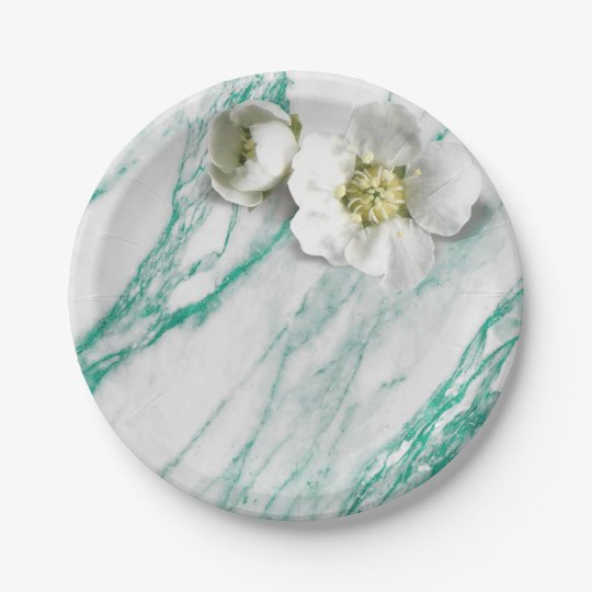Marble Tiffany Mint Emerald White Jasmine Glitter Paper