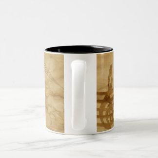 Marble violin key Two-Tone coffee mug