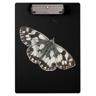 Marble white butterfly design clipboards