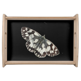 Marble white butterfly design food trays