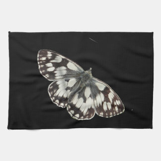 Marble white butterfly design kitchen towels