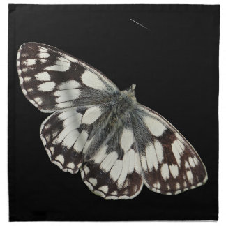 Marble white butterfly design napkins