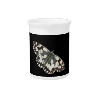 Marble white butterfly design pitchers