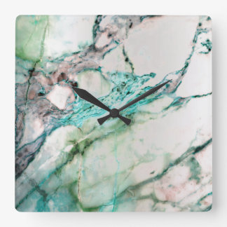 Marble White Gray Emerald Green Graphite Carrara Wall Clock