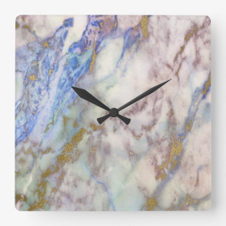 Marble White Gray Gold Graphite Carrara Saphire Wall Clock