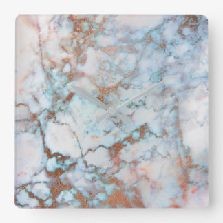 Marble White Gray Pink Gold Blush Blue Carrara Wallclocks