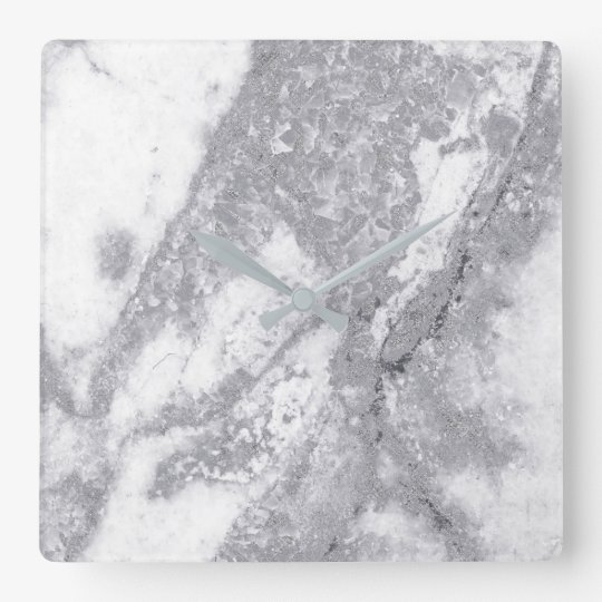 Marble White Gray Silver Metallic Blush Carrara Square