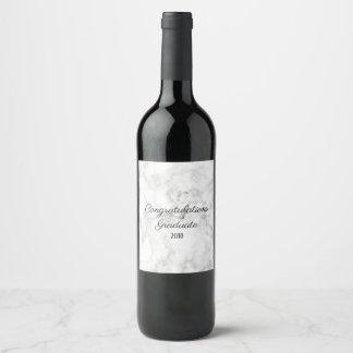 Marble Wine Label | Congratulations Graduate 2018