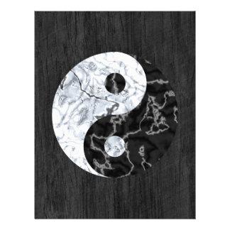 Marble Yin Yang Symbol Full Color Flyer