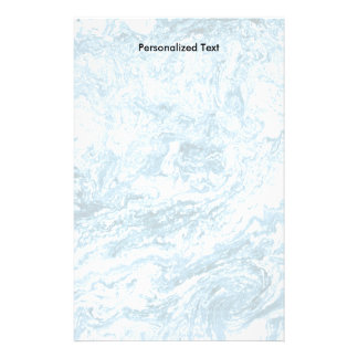 Marbled Abstract Design | Blue and White Stationery
