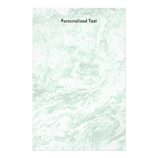 Marbled Abstract Design | Green White Stationery
