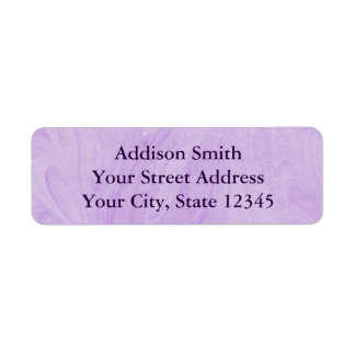 Marbled Abstract Design | Purple Return Address Label