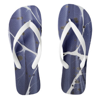 Marbled Abstract Flip Flops