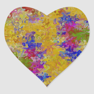 Marbled Abstract Heart Sticker