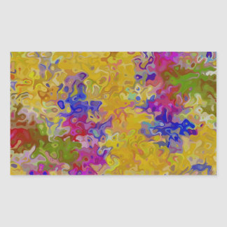 Marbled Abstract Rectangle Stickers
