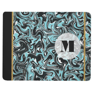 Marbled B&W with Transparent Background Journal