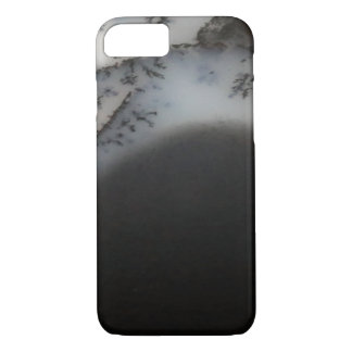 Marbled Black Agate, Cool Natural Stone Unique iPhone 8/7 Case