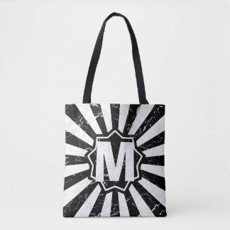 Marbled Black Wham Bam Monogram Tote Bag