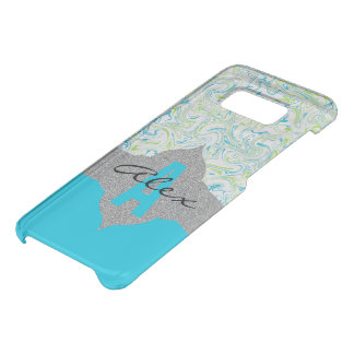 Marbled Blue & Green with Transparent Background Uncommon Samsung Galaxy S8 Case
