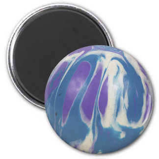 marbled bowling ball refrigerator magnets