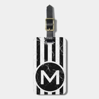 Marbled BVS Button Monogram Luggage Tag