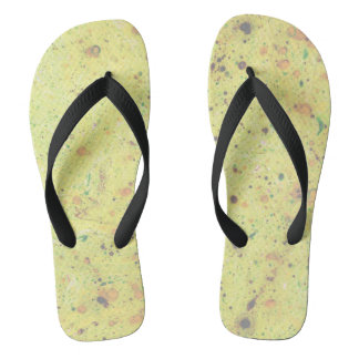 Marbled flip flops - (yellow speckled) (m60)