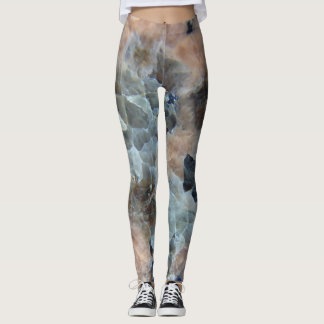Marbled granite designed leggings