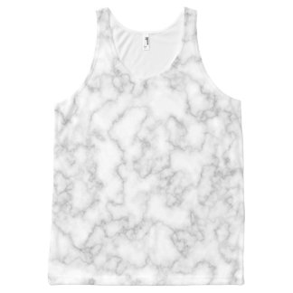 Marbled Gray White Marble Stone Pattern Background All-Over Print Tank Top